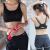 【スポーツビッグサイズライン】フィットネスクラブのブラジャ耐冲撃ジョギング軽い薄型寄せ付けブラ大き目の胸肥満MM 200斤ダンパー灰色XL